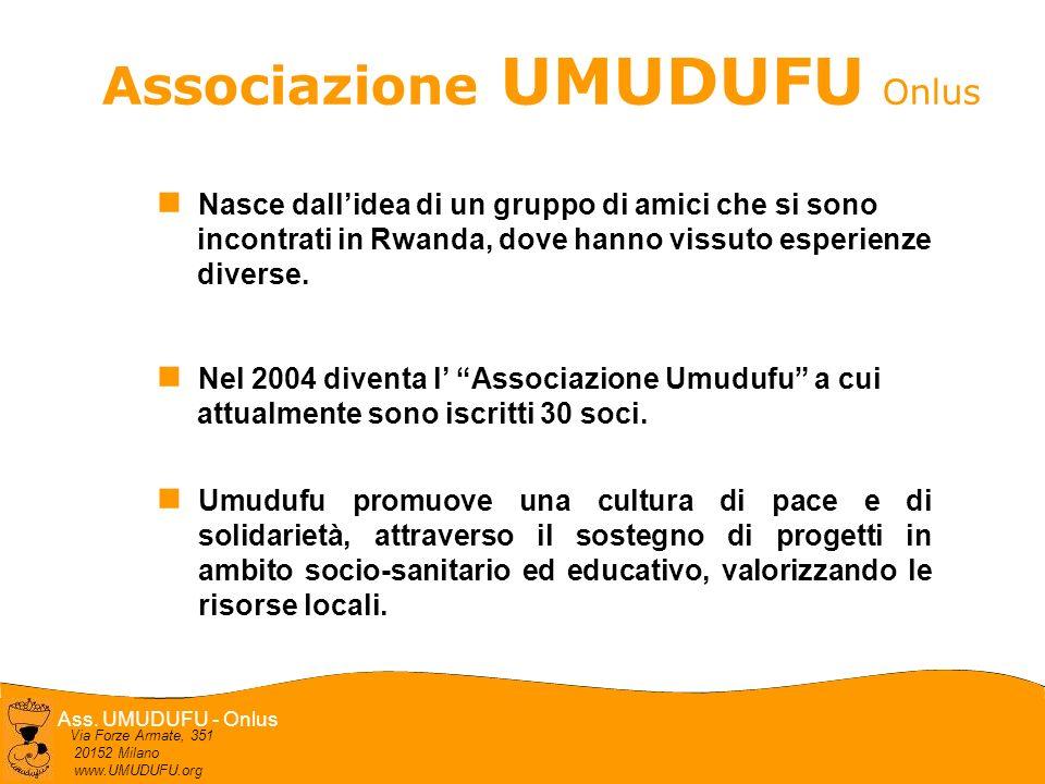 Ass. UMUDUFU - Onlus Via Forze Armate, 351 20152 Milano www.UMUDUFU.org Associazione UMUDUFU Onlus Nasce dallidea di un gruppo di amici che si sono in