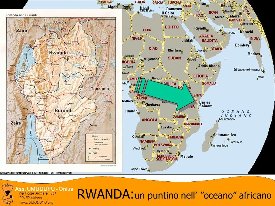 Ass. UMUDUFU - Onlus Via Forze Armate, 351 20152 Milano www.UMUDUFU.org RWANDA: un puntino nell oceano africano