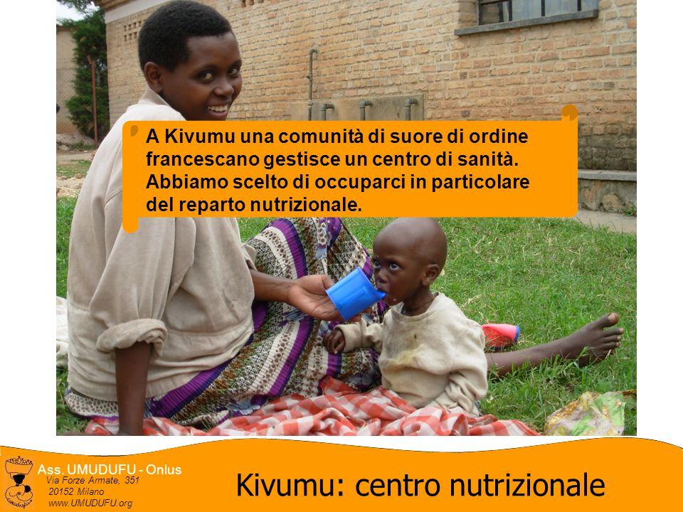 Ass. UMUDUFU - Onlus Via Forze Armate, 351 20152 Milano www.UMUDUFU.org Kivumu: centro nutrizionale A Kivumu una comunità di suore di ordine francesca