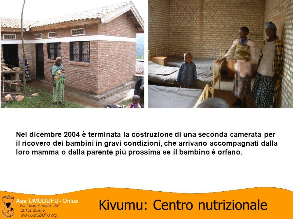 Ass. UMUDUFU - Onlus Via Forze Armate, 351 20152 Milano www.UMUDUFU.org Kivumu: Centro nutrizionale Nel dicembre 2004 è terminata la costruzione di un