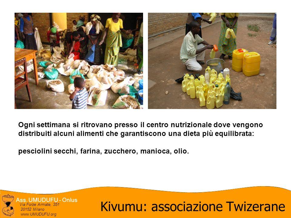 Ass. UMUDUFU - Onlus Via Forze Armate, 351 20152 Milano www.UMUDUFU.org Kivumu: associazione Twizerane Ogni settimana si ritrovano presso il centro nu