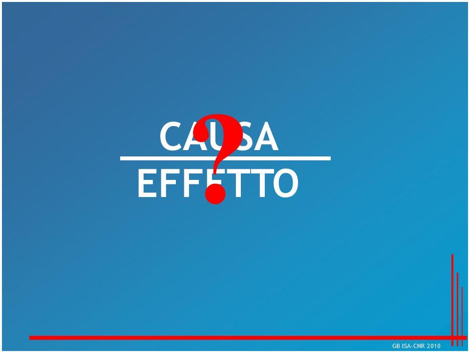 CAUSA EFFETTO ? GB ISA-CNR 2010