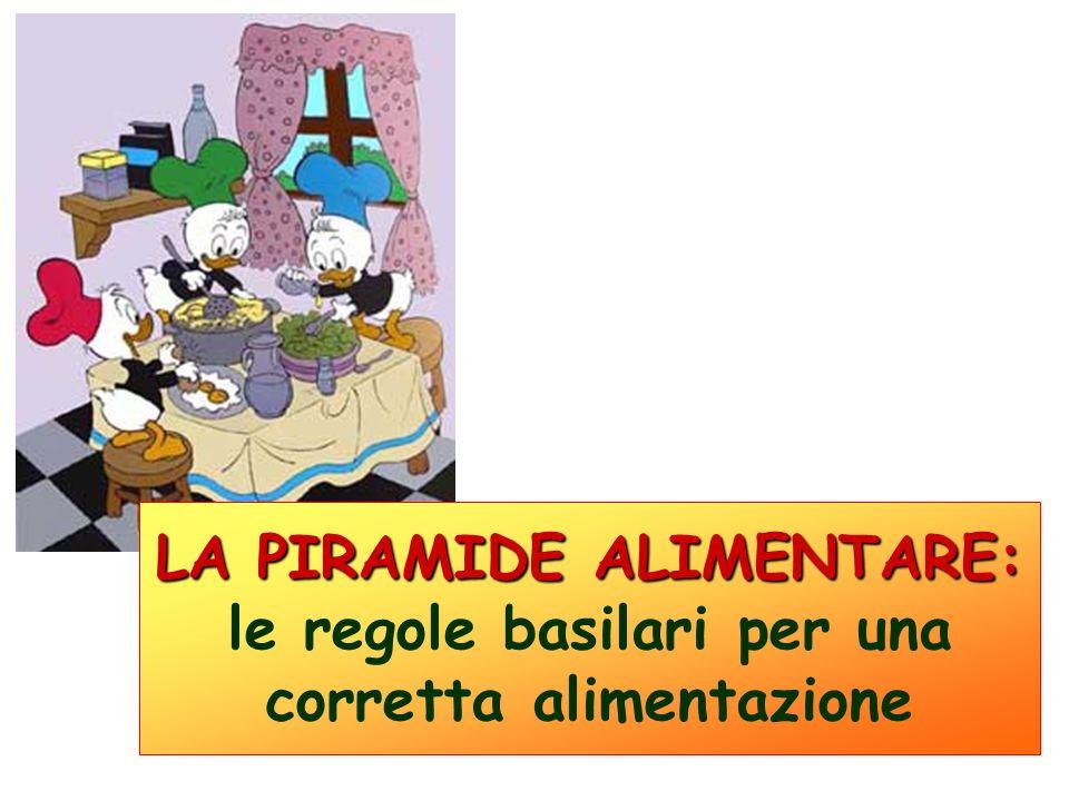 LA PIRAMIDE ALIMENTARE: LA PIRAMIDE ALIMENTARE: le regole basilari per una corretta alimentazione
