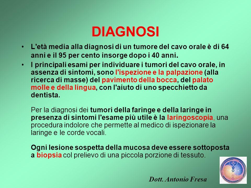 SINTOMI si può sospettare la presenza di una neoplasia maligna della laringe Tumore della laringe: si può sospettare la presenza di una neoplasia mali