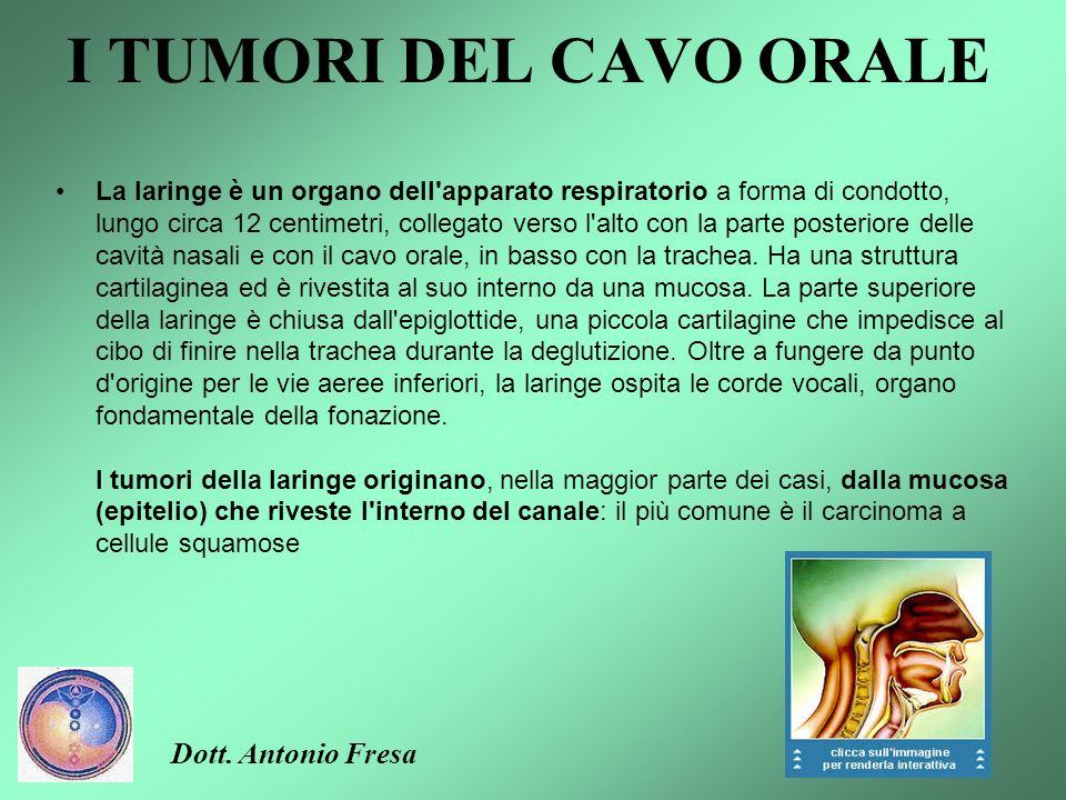 I TUMORI DEL CAVO ORALE La faringe è un canale cilindrico appiattito, di circa 15 centimetri, posto tra la testa e l'esofago; la sua funzione è consen