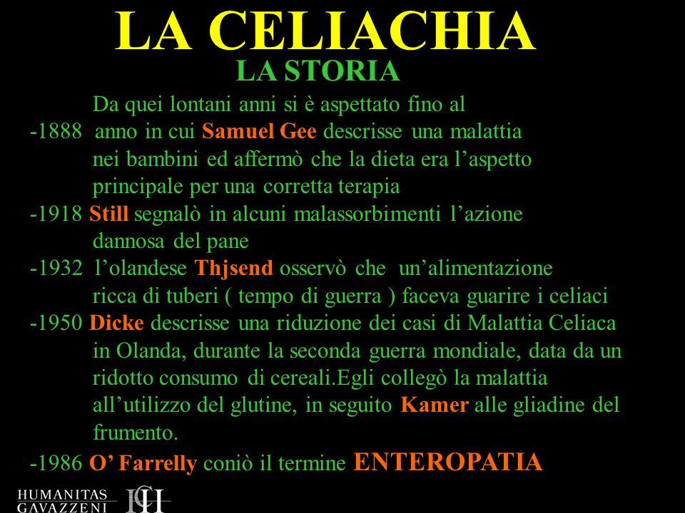 LA CELIACHIA Qual è oggi la definizione di celachia.