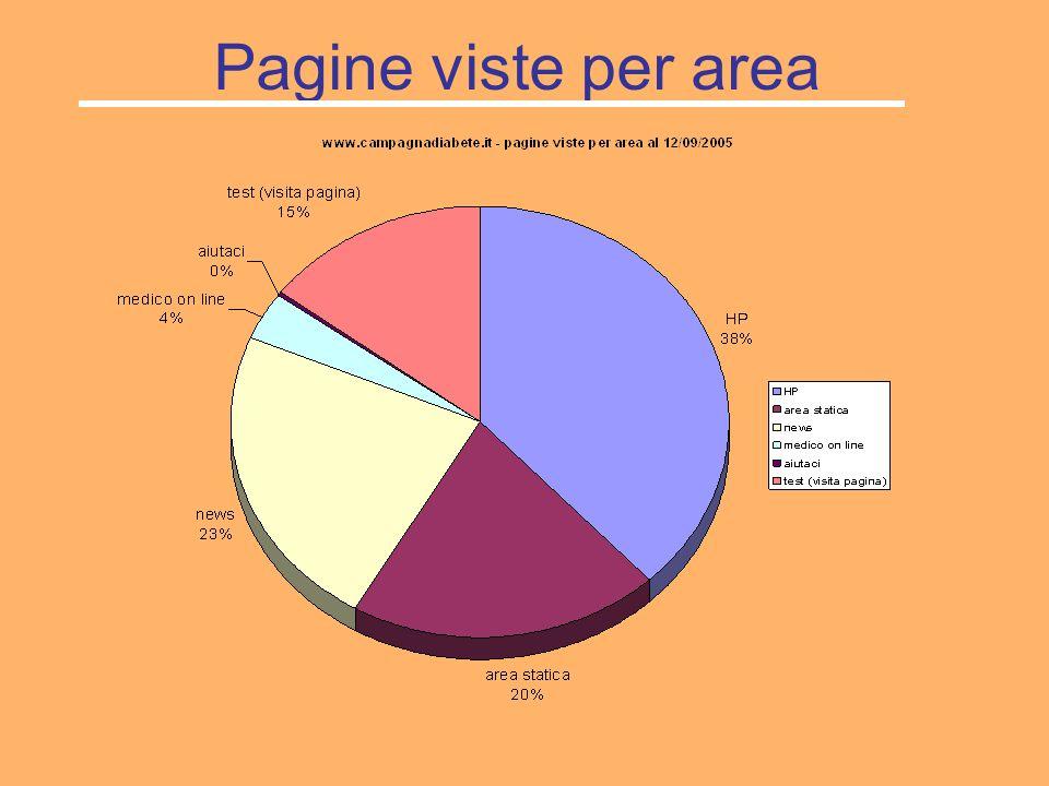 Pagine viste per area
