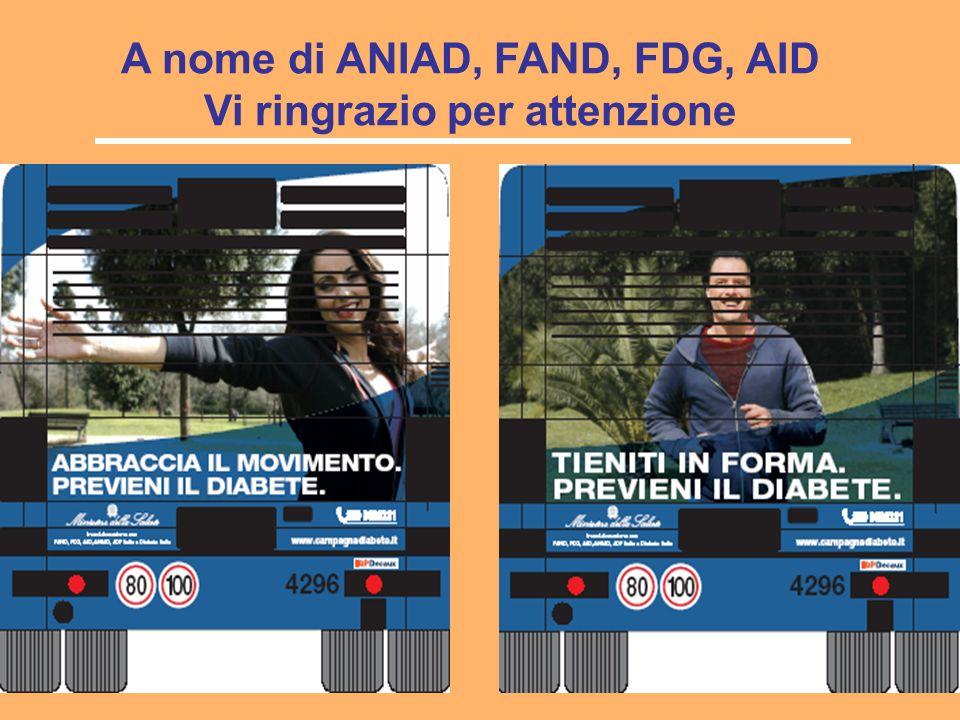A nome di ANIAD, FAND, FDG, AID Vi ringrazio per attenzione