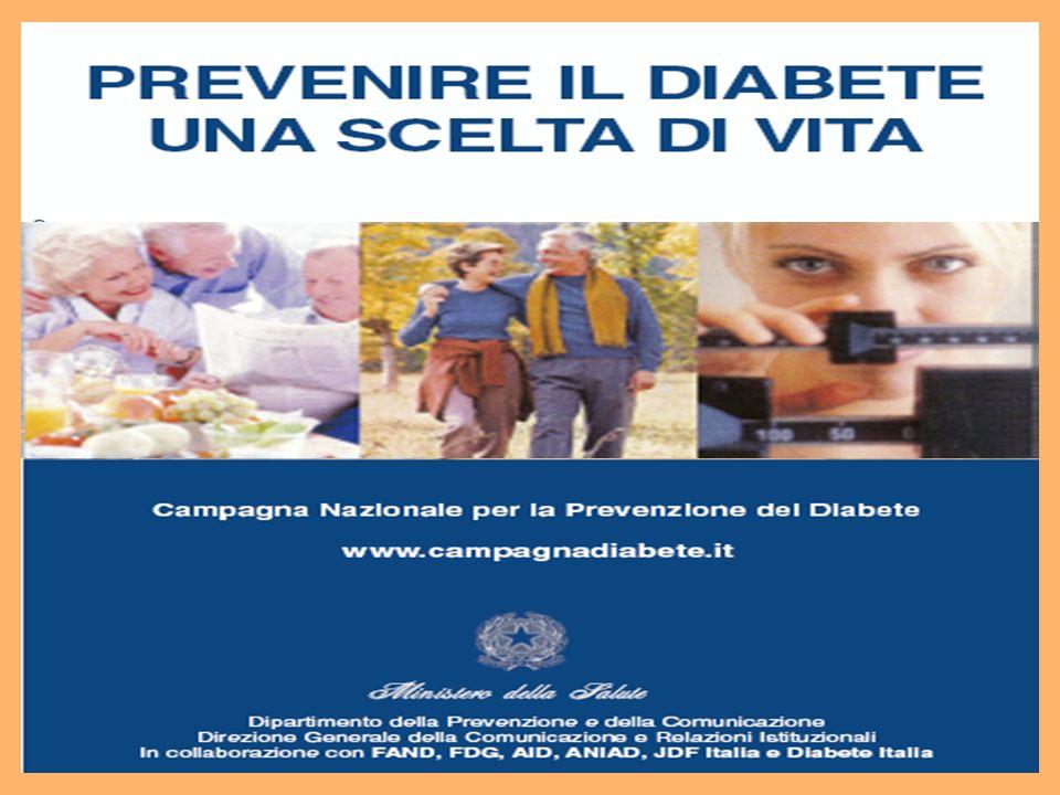 OBIETTIVI DELLA CAMPAGNA In linea con gli obiettivi posti in essere dall OMS, la Campagna si propone di: · Ridurre l incidenza del Diabete di tipo2 · Ridurre le complicanze derivate dal diabete di tipo 2 · Prevenire la discriminazione delle persone con diabete