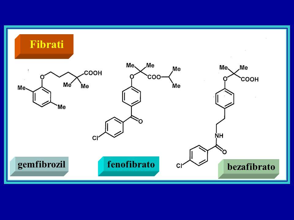 Fibrati gemfibrozilfenofibrato bezafibrato