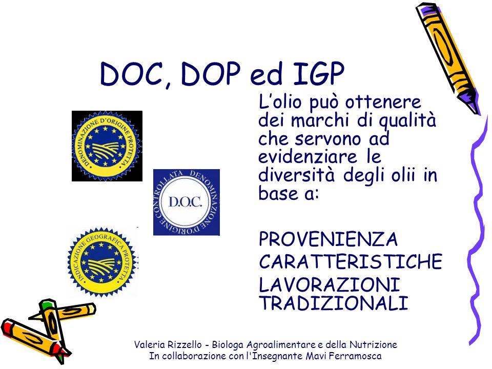Valeria Rizzello - Biologa Agroalimentare e della Nutrizione In collaborazione con l'Insegnante Mavi Ferramosca DOC, DOP ed IGP Lolio può ottenere dei