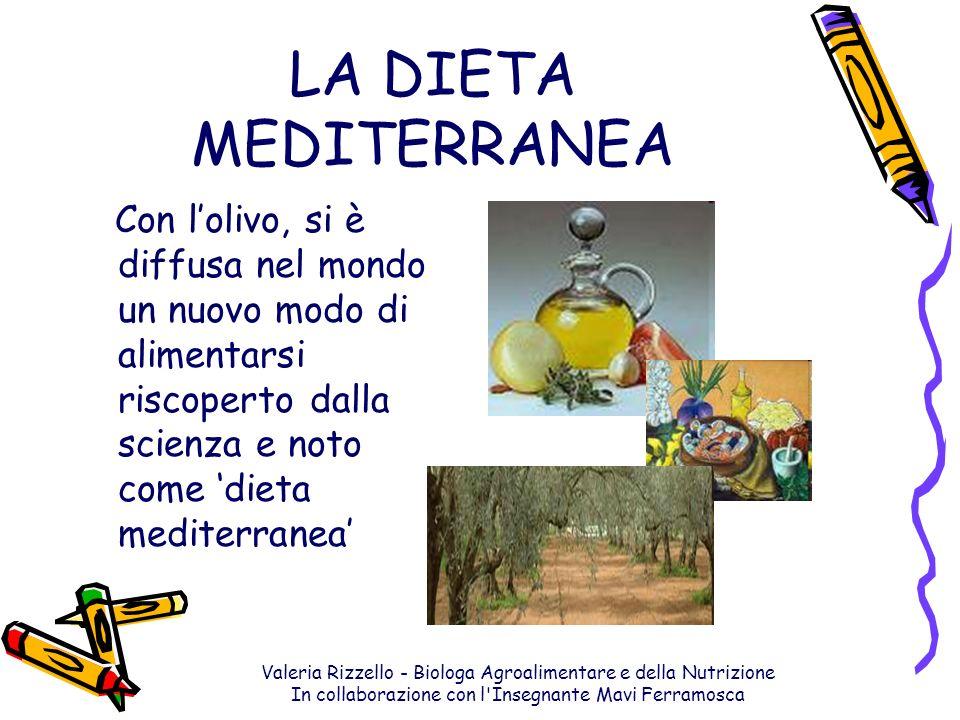 Valeria Rizzello - Biologa Agroalimentare e della Nutrizione In collaborazione con l'Insegnante Mavi Ferramosca LA DIETA MEDITERRANEA Con lolivo, si è