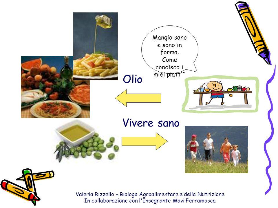 Valeria Rizzello - Biologa Agroalimentare e della Nutrizione In collaborazione con l'Insegnante Mavi Ferramosca Mangio sano e sono in forma. Come cond