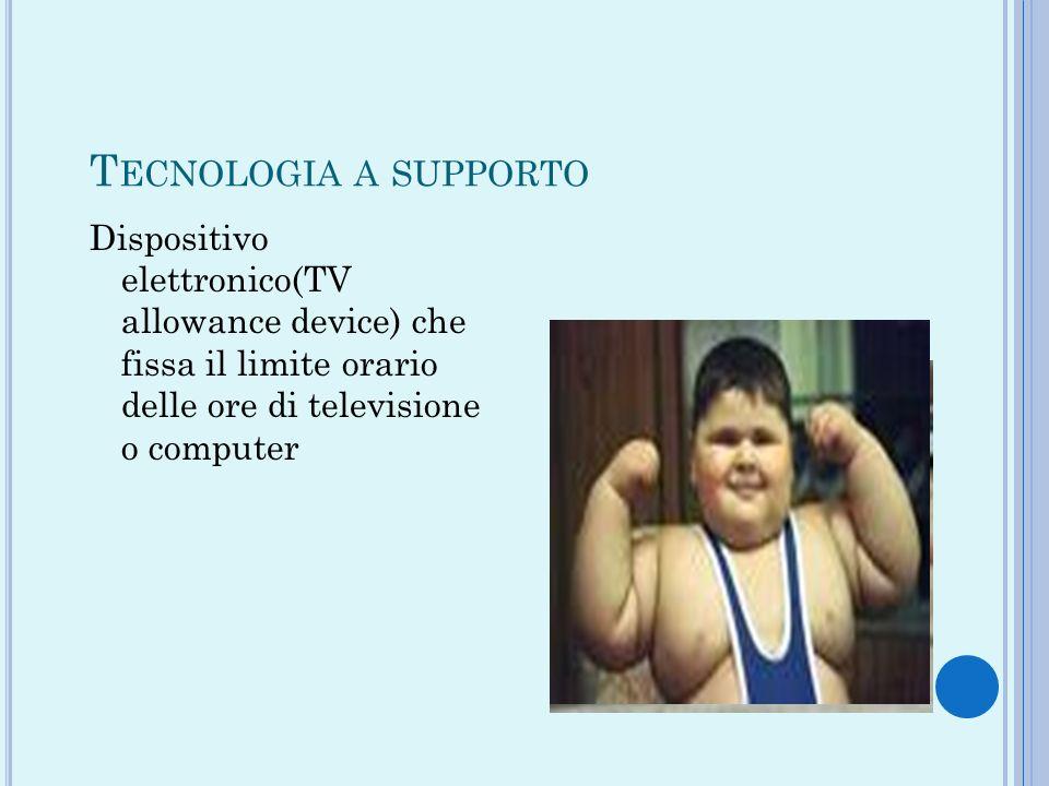 T ECNOLOGIA A SUPPORTO Dispositivo elettronico(TV allowance device) che fissa il limite orario delle ore di televisione o computer