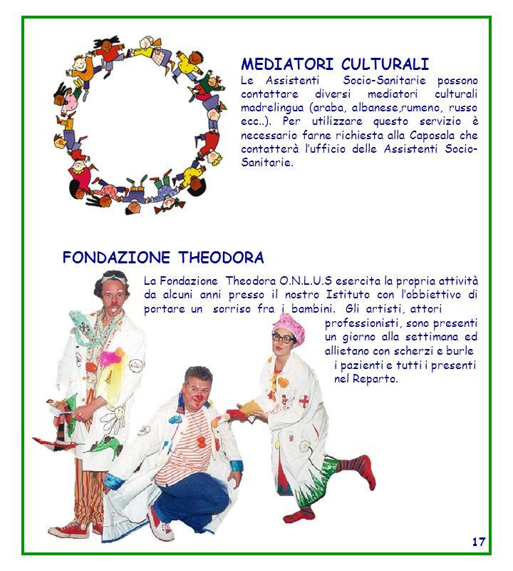 MEDIATORI CULTURALI Le Assistenti Socio-Sanitarie possono contattare diversi mediatori culturali madrelingua (araba, albanese,rumeno, russo ecc..). Pe
