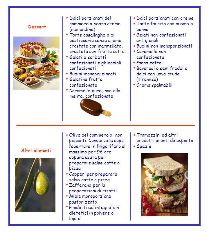 Dolci porzionati del commercio senza creme (merendine) Torte casalinghe o di pasticceria senza creme, crostate con marmellata, crostata con frutta cot