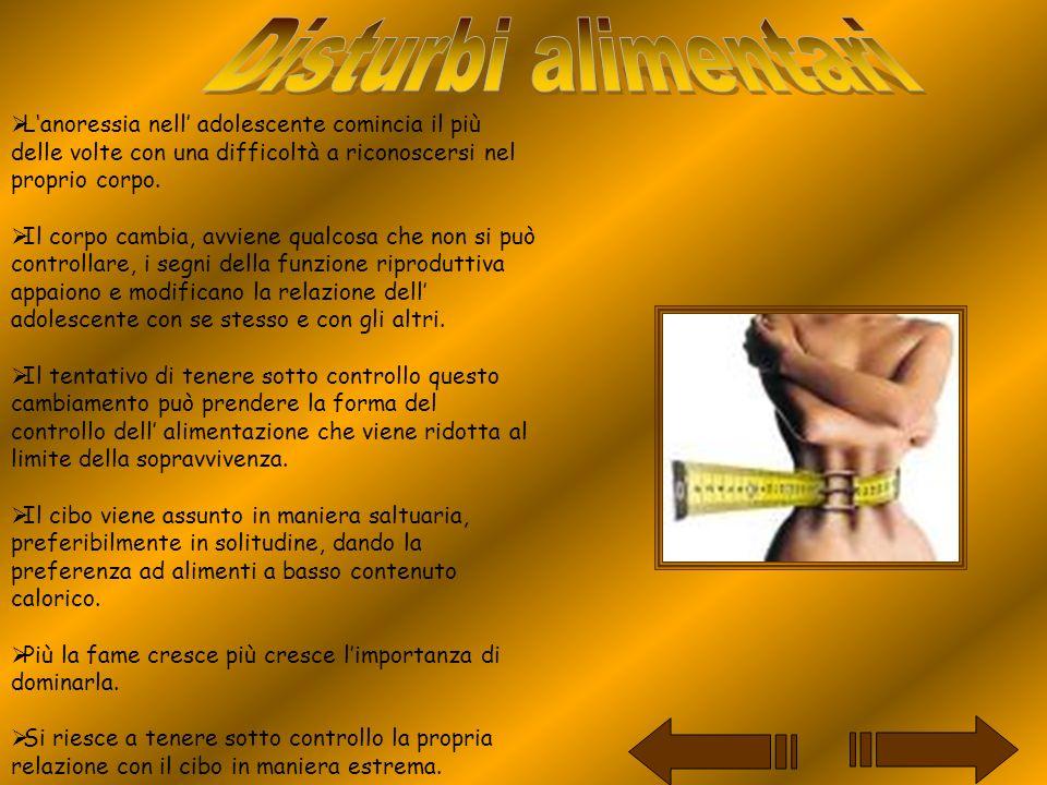 Le donne che soffrono di bulimia, a differenza di quelle che soffrono di anoressia, non conoscono il controllo ma la sconfitta.