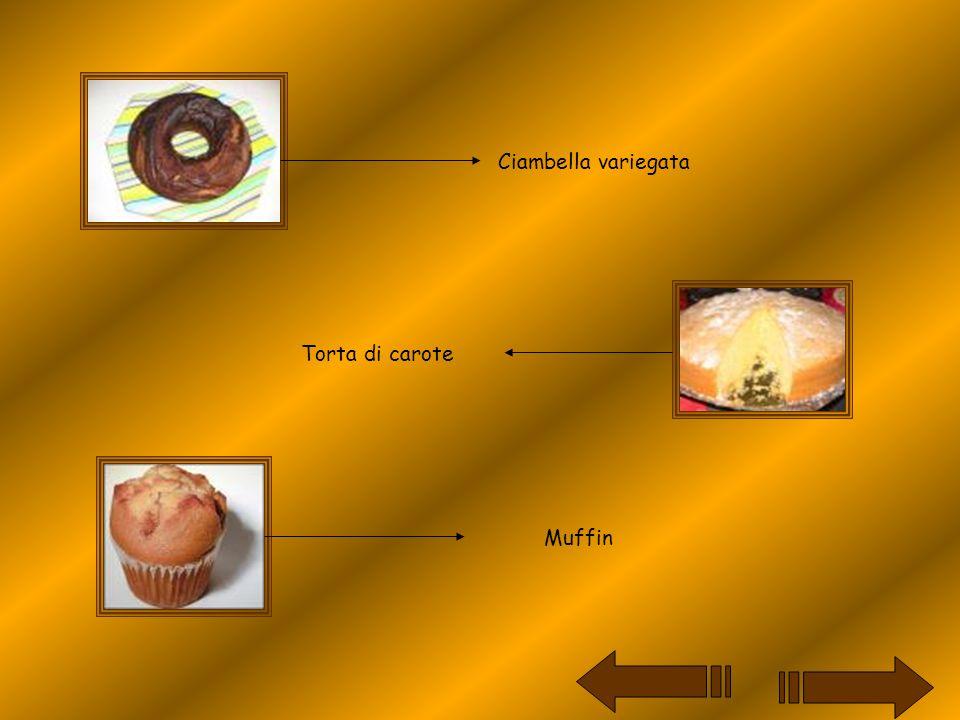 Ciambella variegata Torta di carote Muffin