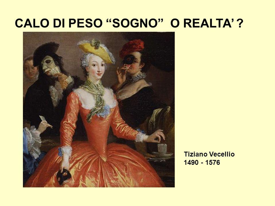 Tiziano Vecellio 1490 - 1576 CALO DI PESO SOGNO O REALTA ?