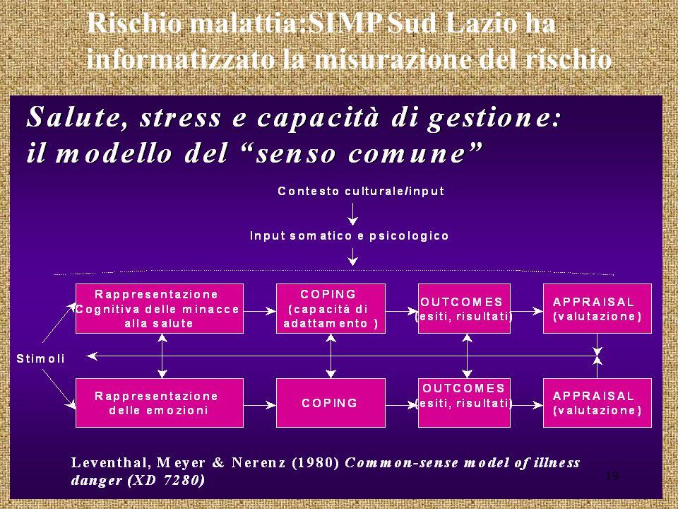 Rischio malattia:SIMP Sud Lazio ha informatizzato la misurazione del rischio 19
