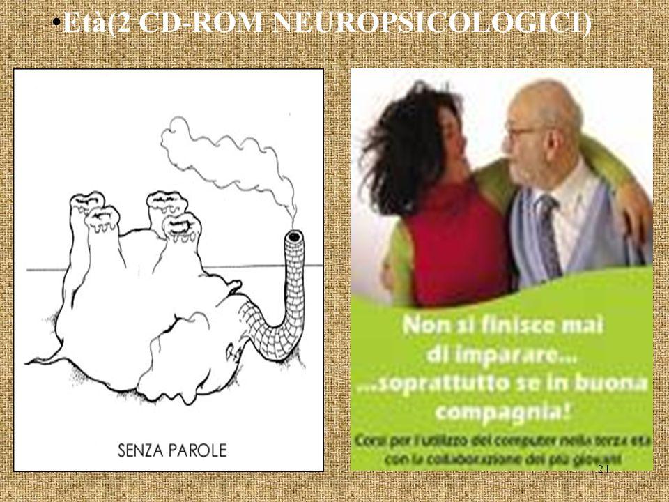 Età(2 CD-ROM NEUROPSICOLOGICI) 21
