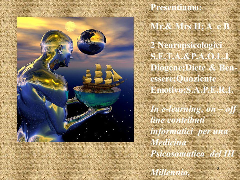 Presentiamo: Mr.& Mrs H; A e B 2 Neuropsicologici S.E.T.A.&P.A.O.L.I.