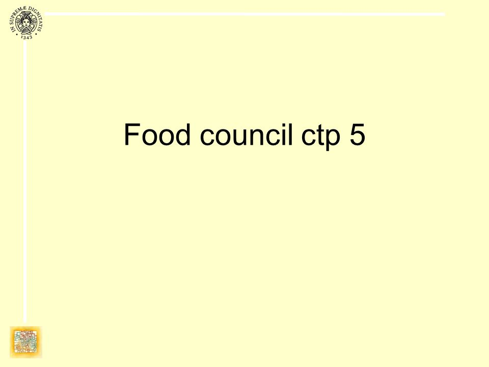 Food council ctp 5