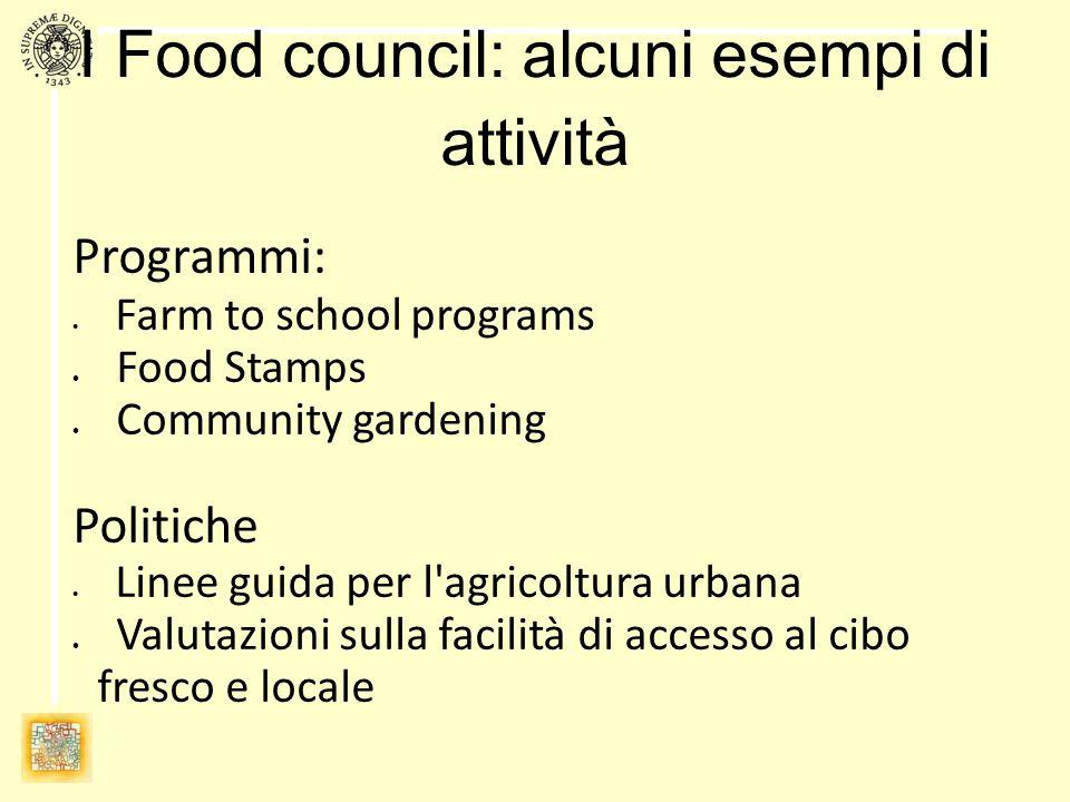 Obiettivo di questo incontro Costituire un comitato promotore del Food council del CTP 5 Identificare le iniziative in atto (caratteristiche principali, attori, reti) Identificare possibili aree di intervento Individuare iniziative da promuovere