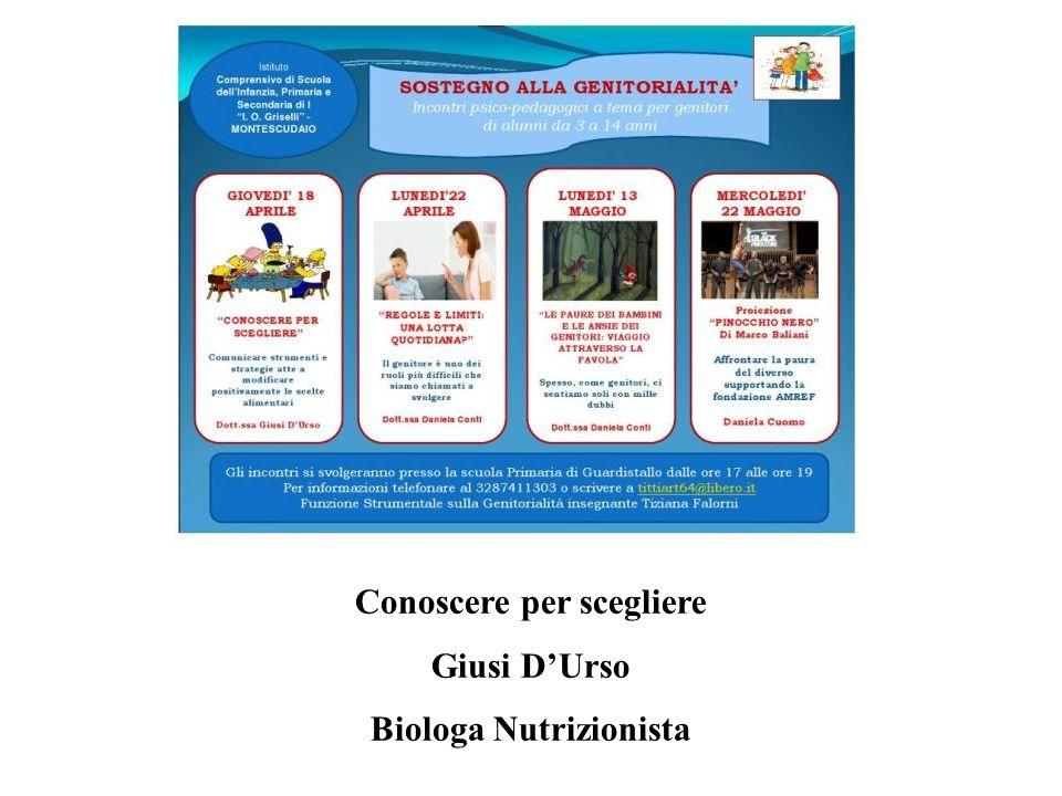 Conoscere per scegliere Giusi DUrso Biologa Nutrizionista
