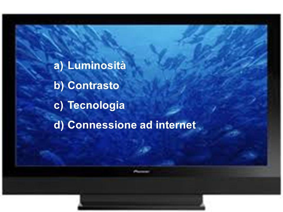 a)Luminosità b)Contrasto c)Tecnologia d)Connessione ad internet