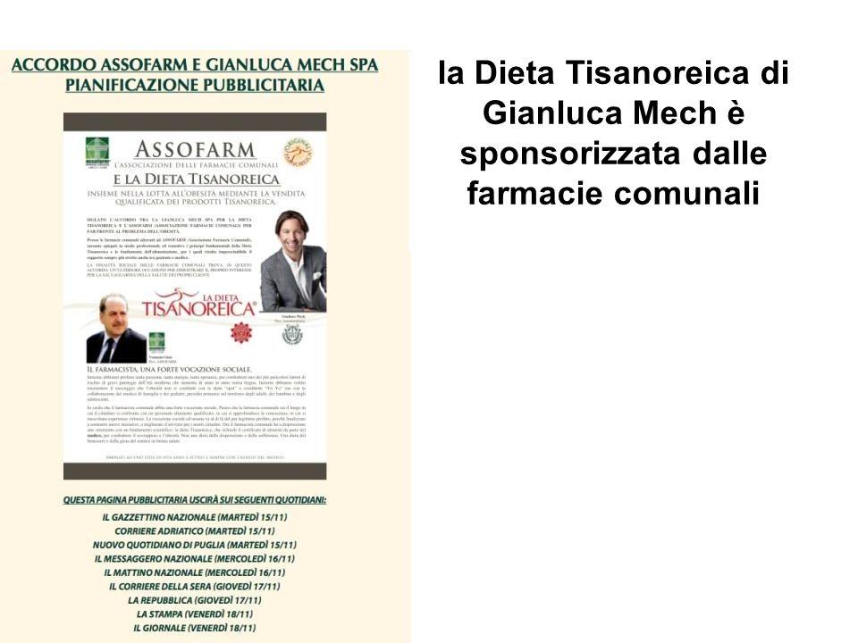 la Dieta Tisanoreica di Gianluca Mech è sponsorizzata dalle farmacie comunali