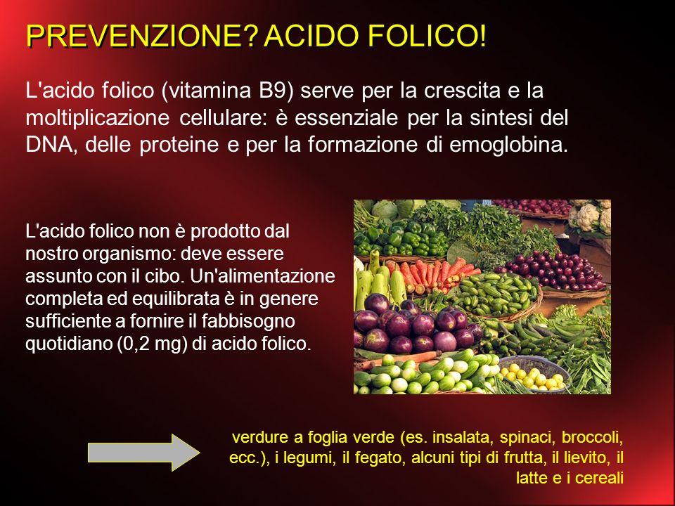 L'acido folico (vitamina B9) serve per la crescita e la moltiplicazione cellulare: è essenziale per la sintesi del DNA, delle proteine e per la formaz