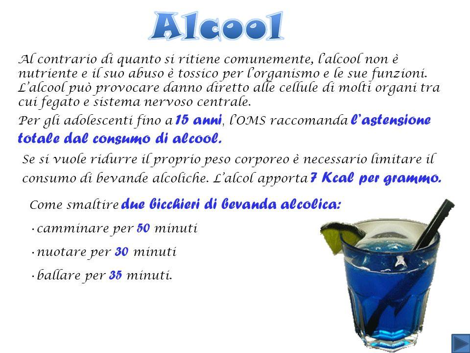 Al contrario di quanto si ritiene comunemente, lalcool non è nutriente e il suo abuso è tossico per lorganismo e le sue funzioni.