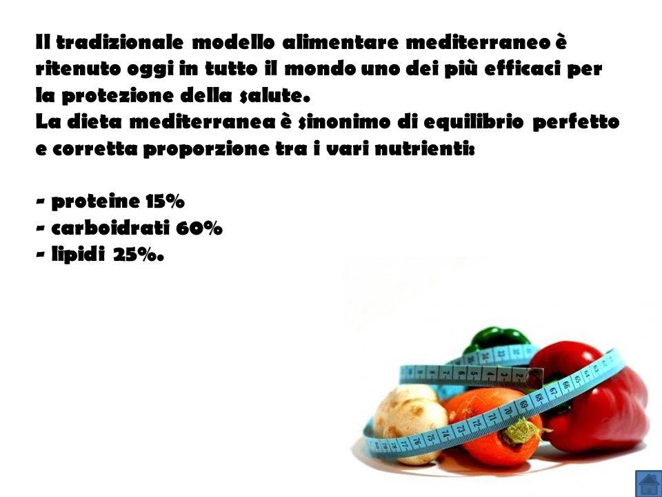 Il tradizionale modello alimentare mediterraneo è ritenuto oggi in tutto il mondo uno dei più efficaci per la protezione della salute. La dieta medite