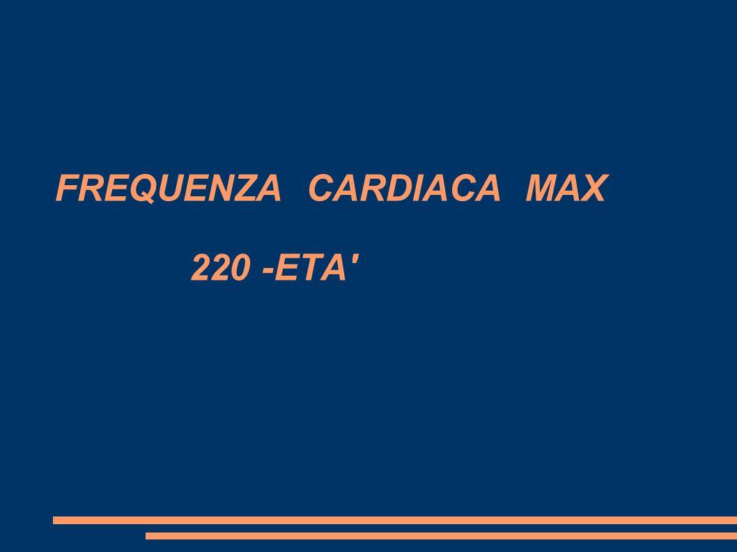 FREQUENZA CARDIACA MAX 220 -ETA'