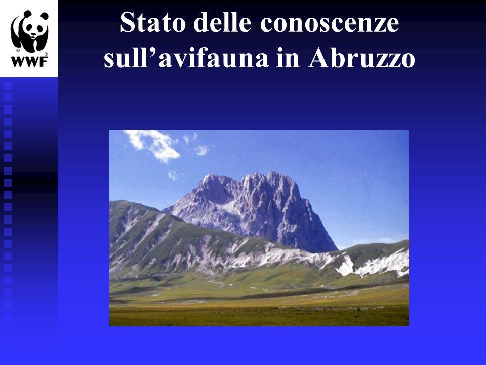Stato delle conoscenze sullavifauna in Abruzzo