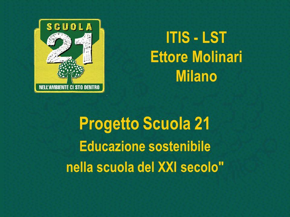 ITIS - LST Ettore Molinari Milano Progetto Scuola 21 Educazione sostenibile nella scuola del XXI secolo