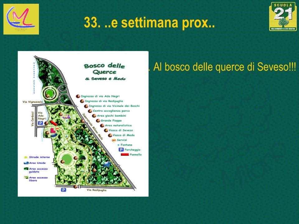 33...e settimana prox.... Al bosco delle querce di Seveso!!!