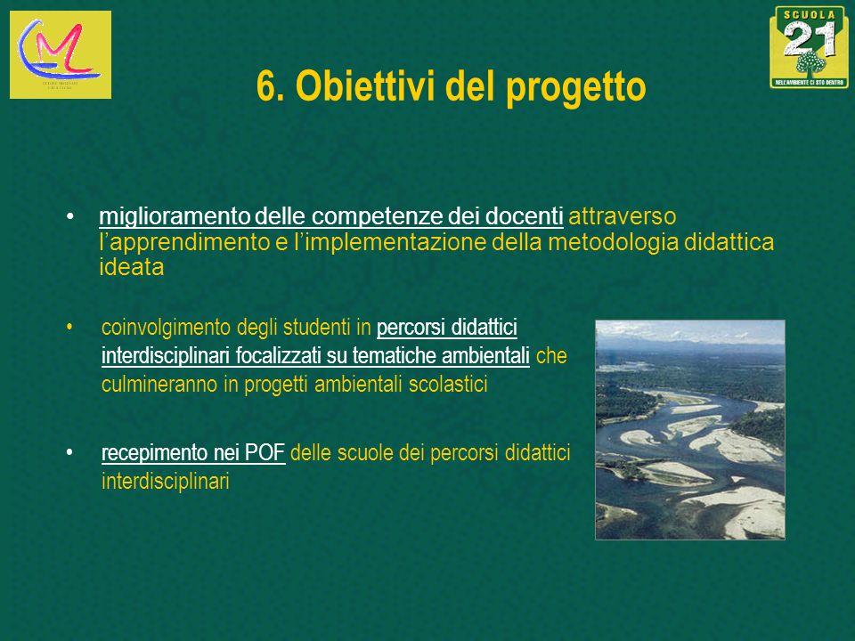 6. Obiettivi del progetto coinvolgimento degli studenti in percorsi didattici interdisciplinari focalizzati su tematiche ambientali che culmineranno i