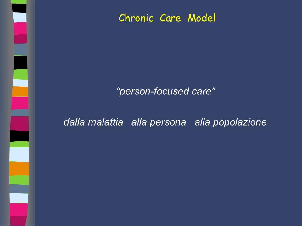 Chronic Care Model person-focused care dalla malattia alla persona alla popolazione