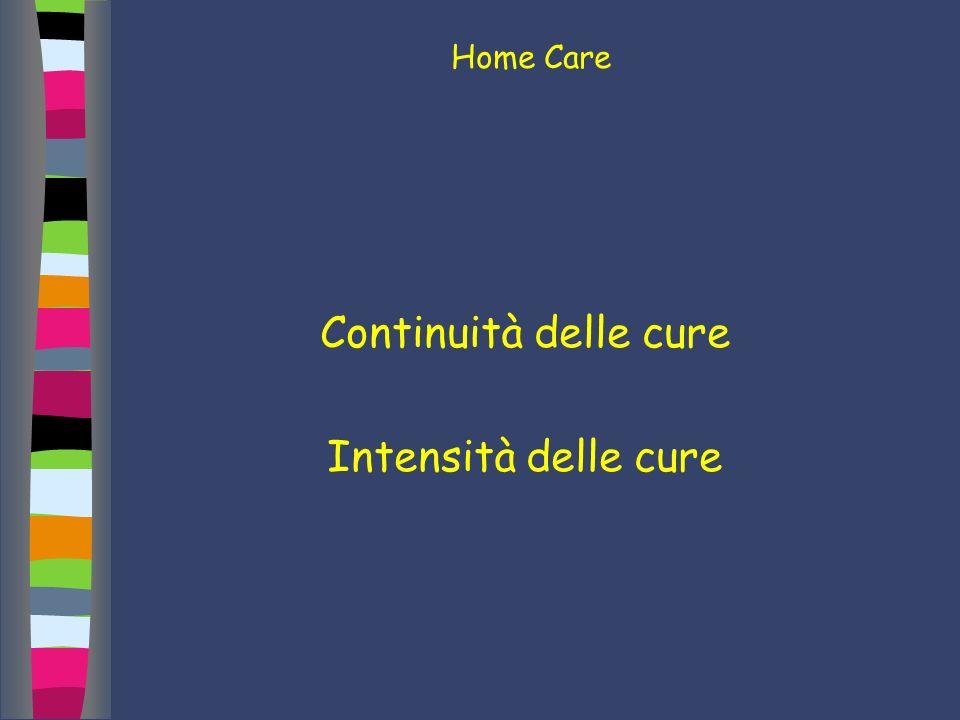 Home Care Continuità delle cure Intensità delle cure