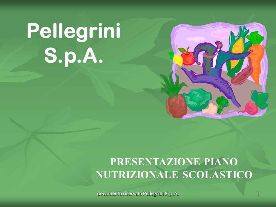 documento riservato Pellegrini S.p.A. 1 Pellegrini S.p.A. PRESENTAZIONE PIANO NUTRIZIONALE SCOLASTICO