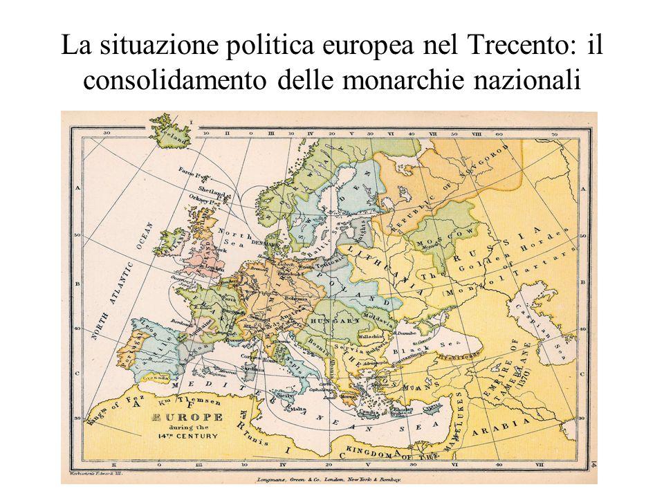 Il Sacro Romano Impero Germanico: il conflitto con il papa Enrico VII di Lussemburgo: nel 1310 scende in Italia per farsi incoronare imperatore con lobiettivo di rafforzare il potere imperiale in Germania e riunificare lItalia (cfr.