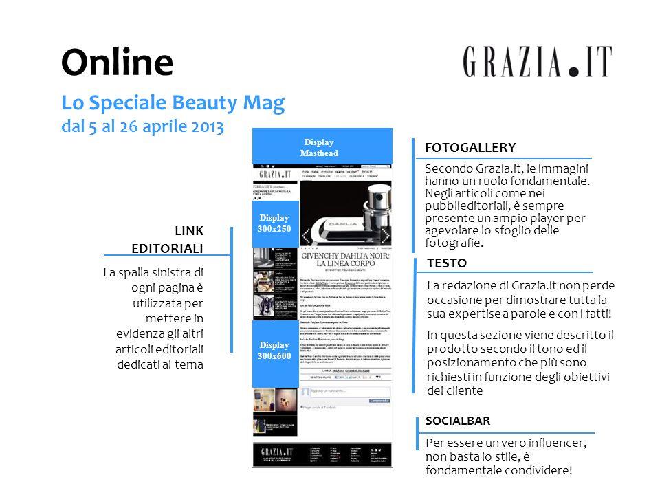 FOTOGALLERY Secondo Grazia.it, le immagini hanno un ruolo fondamentale. Negli articoli come nei pubblieditoriali, è sempre presente un ampio player pe