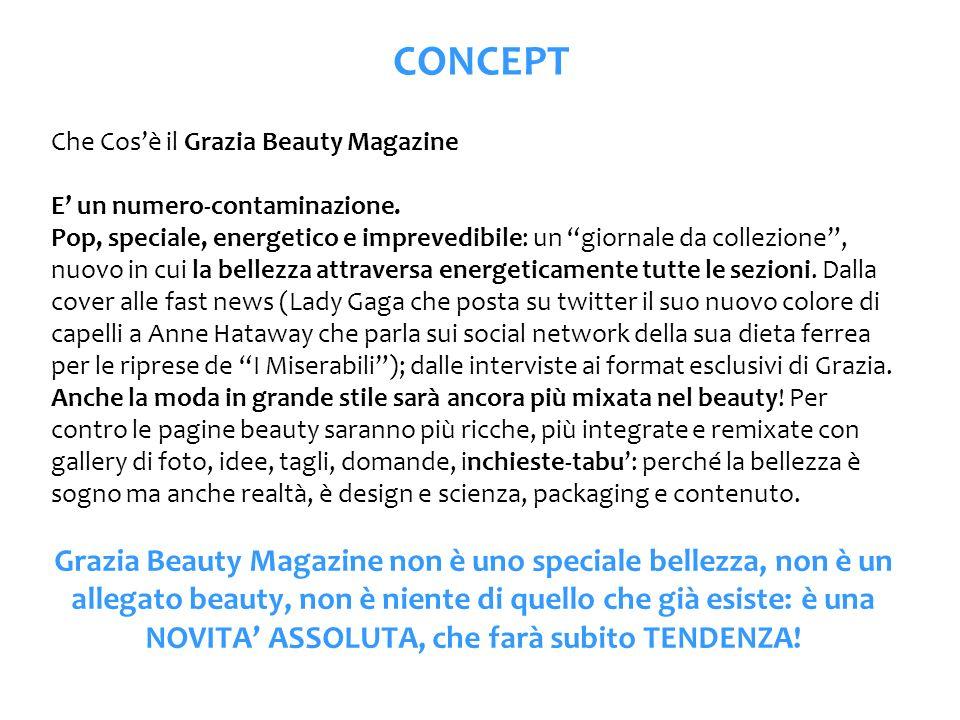 CONCEPT Che Cosè il Grazia Beauty Magazine E un numero-contaminazione. Pop, speciale, energetico e imprevedibile: un giornale da collezione, nuovo in