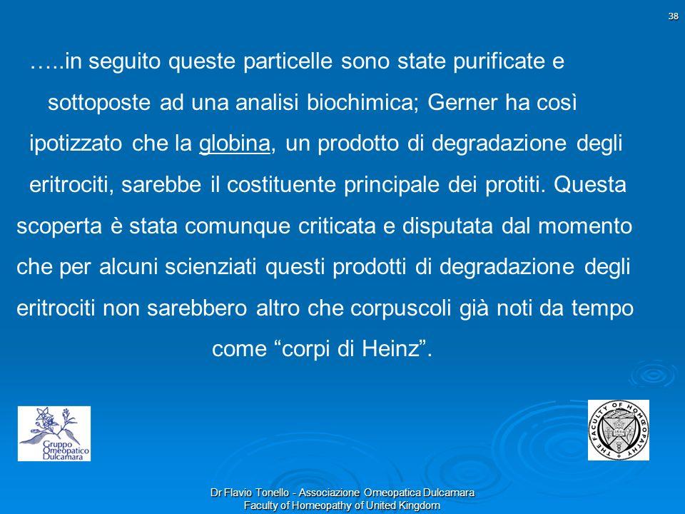 Dr Flavio Tonello - Associazione Omeopatica Dulcamara Faculty of Homeopathy of United Kingdom …..in seguito queste particelle sono state purificate e