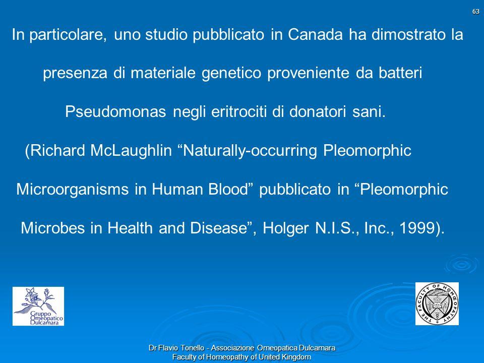 Dr Flavio Tonello - Associazione Omeopatica Dulcamara Faculty of Homeopathy of United Kingdom In particolare, uno studio pubblicato in Canada ha dimos