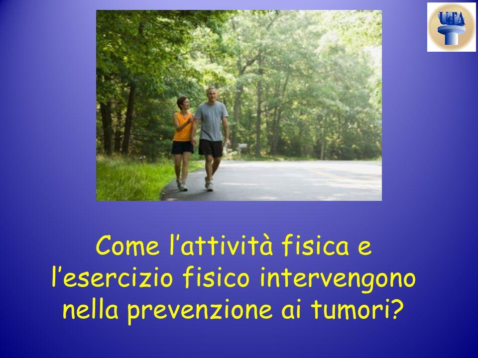 Come lattività fisica e lesercizio fisico intervengono nella prevenzione ai tumori?