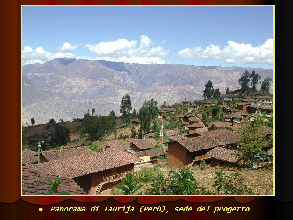 Panorama di Taurija (Perù), sede del progetto Panorama di Taurija (Perù), sede del progetto