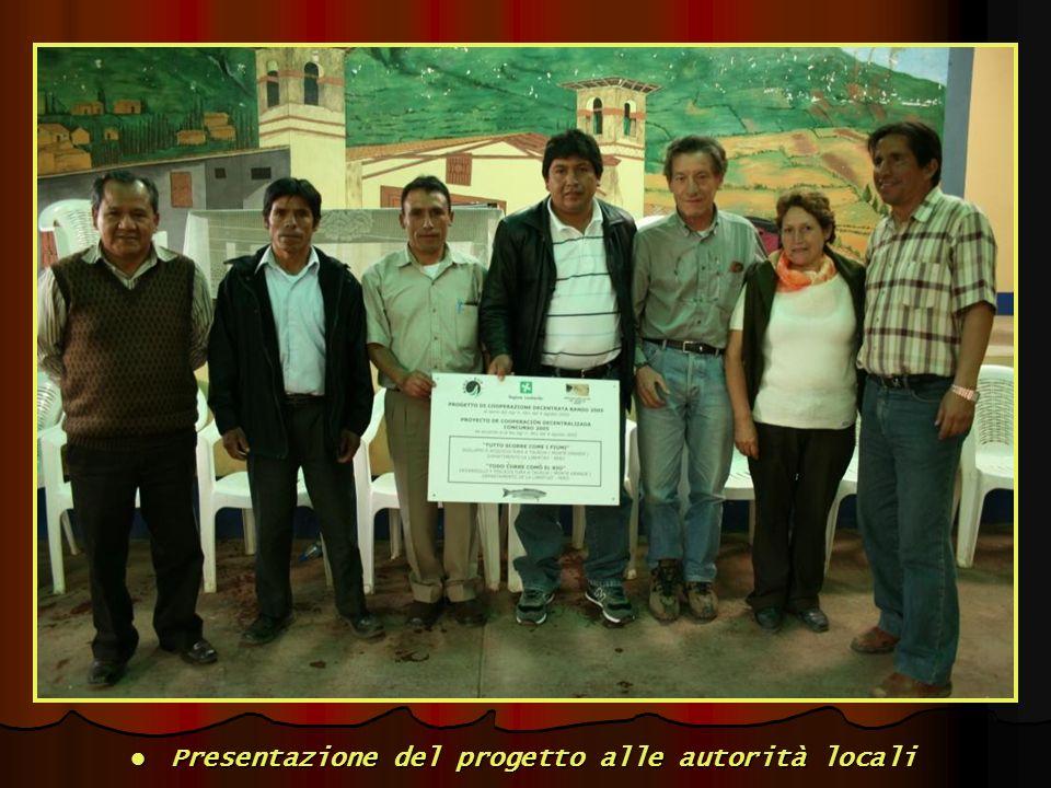 Presentazione del progetto alle autorità locali Presentazione del progetto alle autorità locali